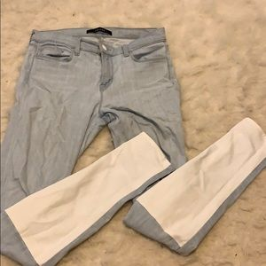 J Brand White Panel Back Skinny Jeans